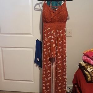 JUNIORS MAXI DRESS LG